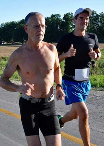 An older guy going running